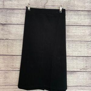 Ava & Viv Black Stretch A Line Skirt